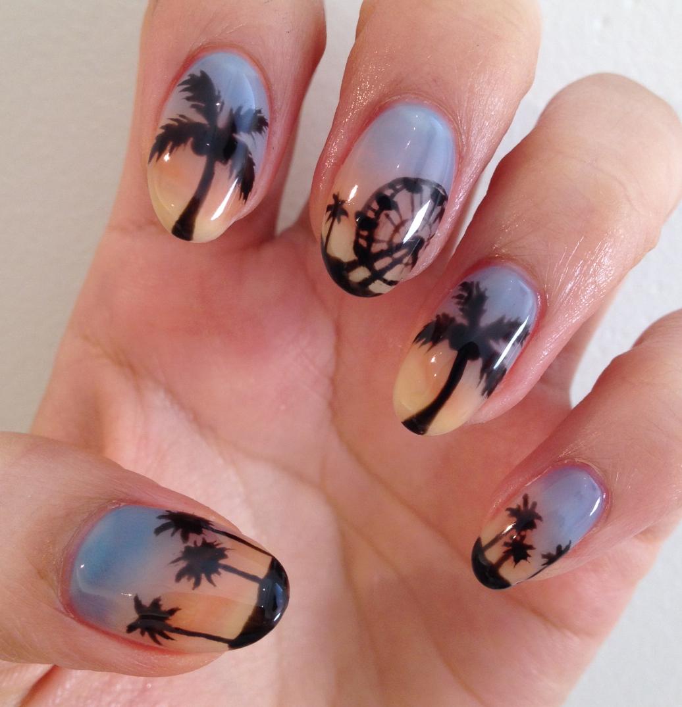 Nail Art Tutorial Coachella Palm Tree Nails Nailpro