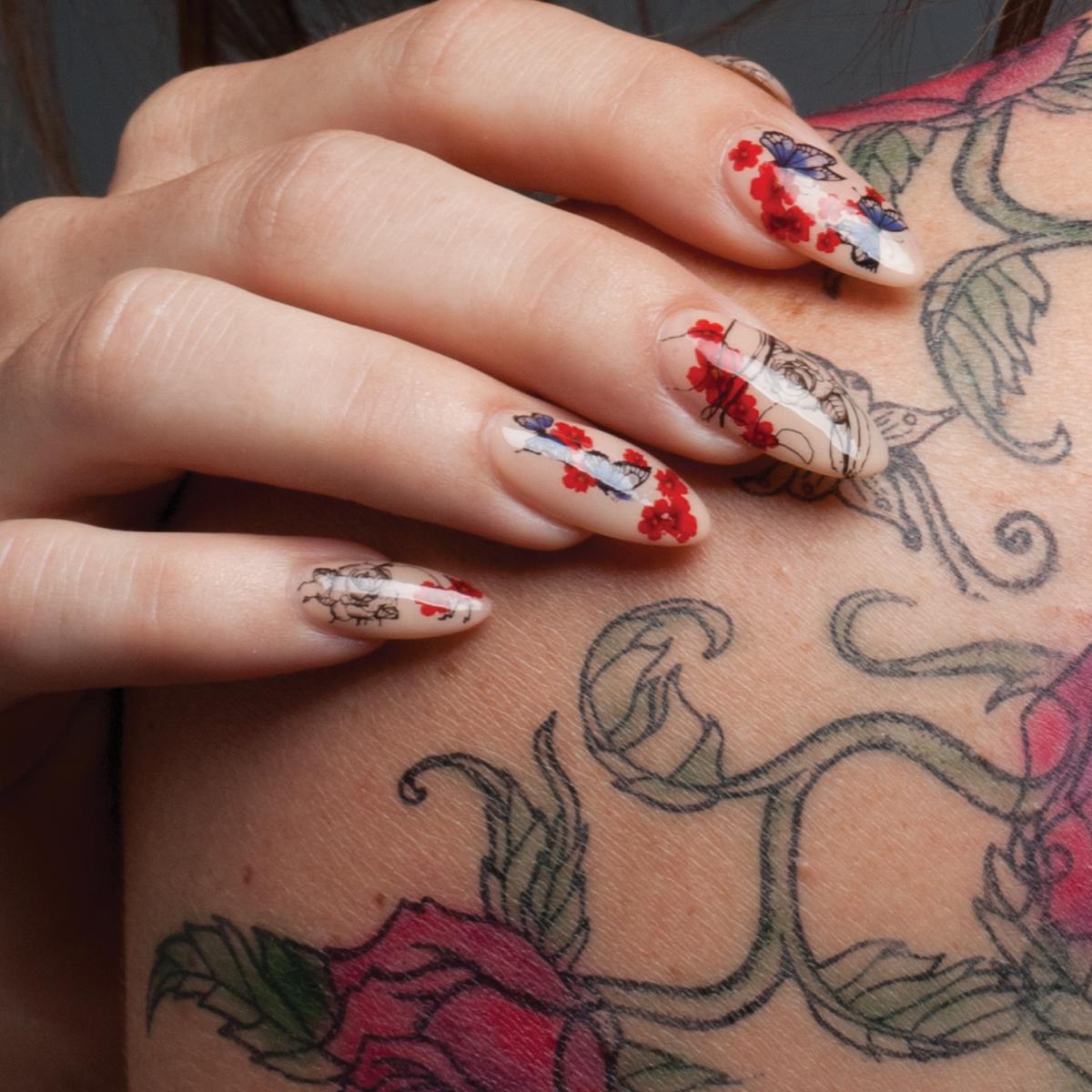 Nail Art Tutorial Tattoo Nail Designs Nailpro