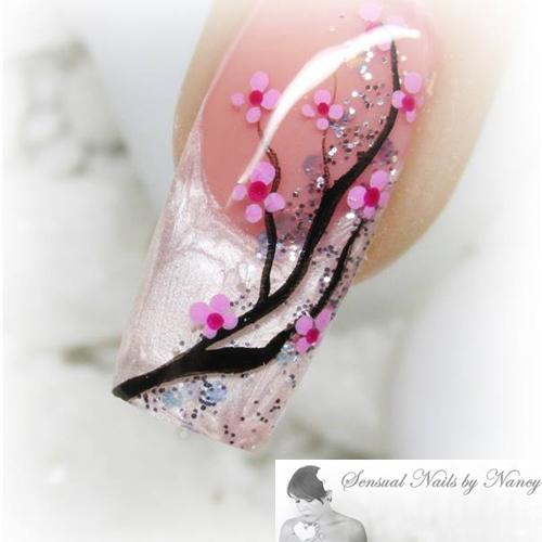 Nail Art Tutorial Cherry Blossom Nails Nailpro