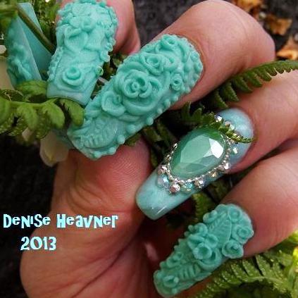 nail art tutorial winter mint nails  nailpro